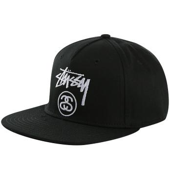 stussy black ballcap